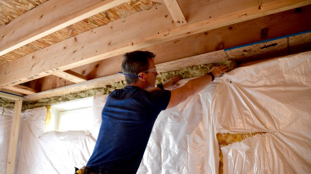 Home improvement video insulate a basement faster easier for What is roxul insulation