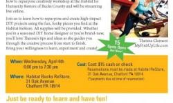 Habitat for Humanity ReStore Spring Workshop Theresa MyFixitUpLife Bucks County