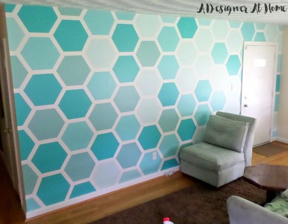 I'm a fan of monochromatic paint patterns for a home interior. They bring fun into any space, without overpowering the room.