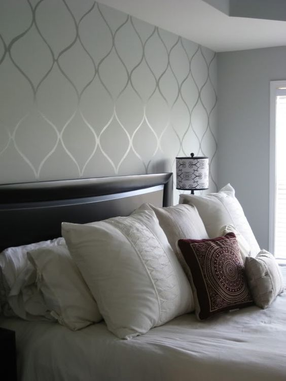 Paint patterns can be made by just using different sheens of the same color for a considered luxe look.