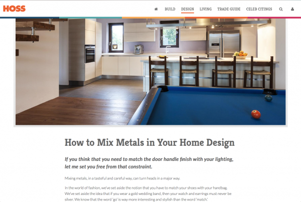 Mixing Metals in Your Home Design