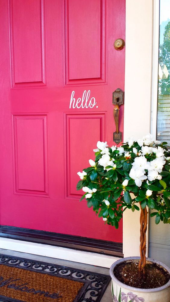 Hot Pink Door Says A Lot About Who Might Be Inside