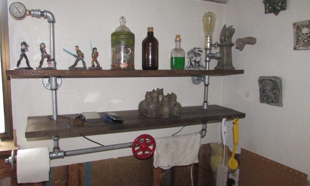 Your DIY! Steampunk Bathroom Shelf
