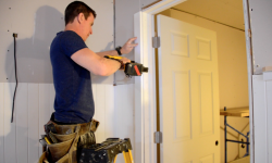 2016_MyFixitUpLife_Mark_Door Trim_Basement Renovation_Dewalt Nail Gun