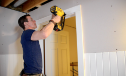 2016_MyFixitUpLife_Mark_Door Trim_Basement Renovation_Dewalt Nail Gun_