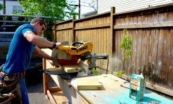 8_2016_MyFixitUpLife_Habitat ReStore_Krylon_Tiki Torch_Miter saw_Mark