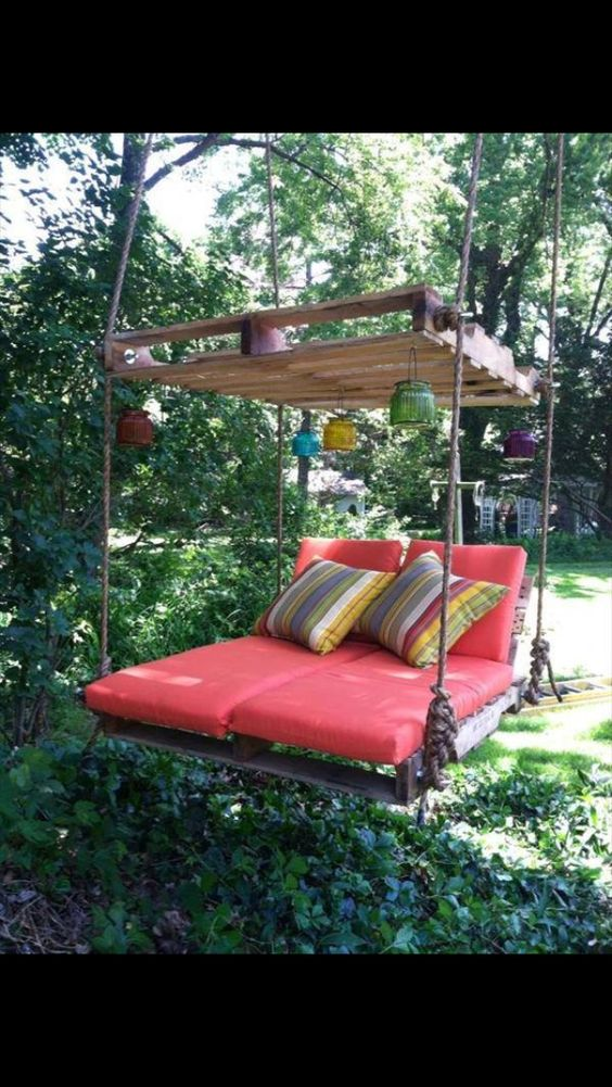Enjoying a day in the garden on this beautiful swing, sounds like an amazing day to me.