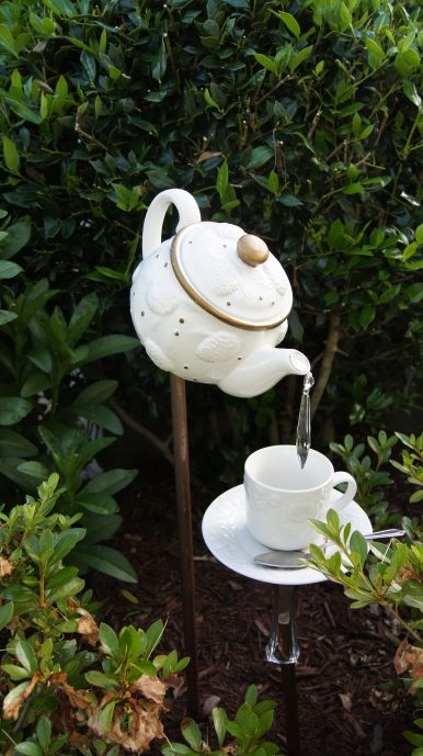 Add a pop of whimsy to the garden.