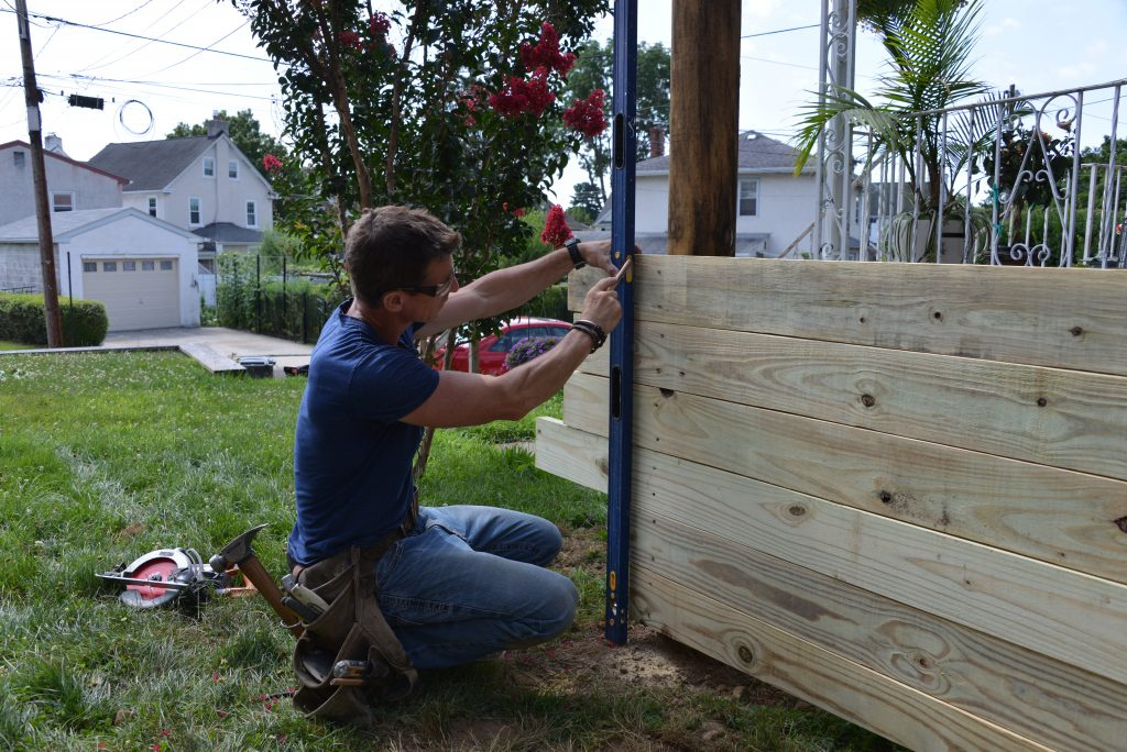 how to build a level fence