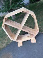 DIY Project! Make a wicked awesome cedar fire pit & firewood organizer