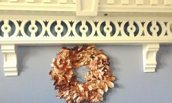 Holiday wreath leaf paint rose gold myfixituplife