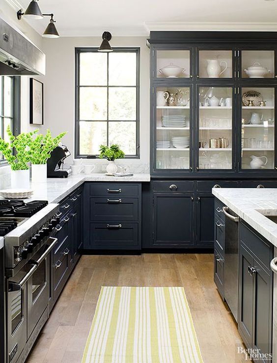 This year\'s trend in kitchen colors. Is black the new black? #HossDesign