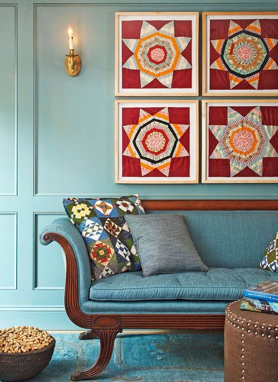 Looking for fresh home decorating ideas? Go retro with quilt style.