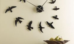 bird flying clock