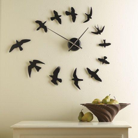 bird flying clock