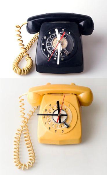 phone clock retro