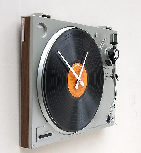 record turntable clock