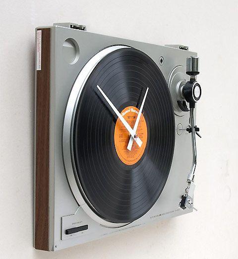 record turntable clock