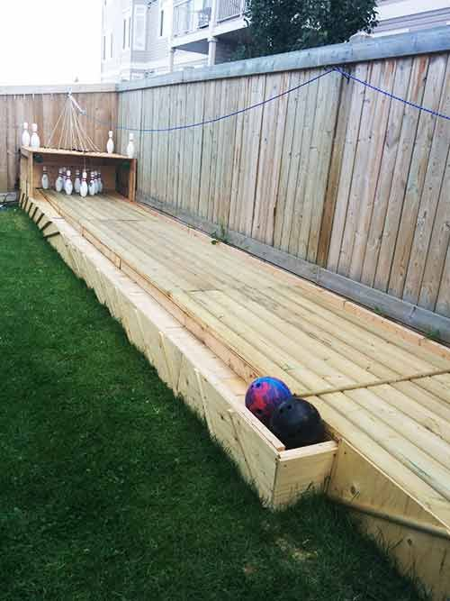 4 backyard fun bowling