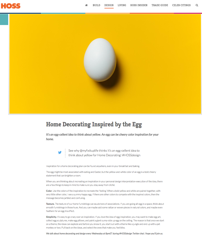 HossDesign Egg Decorating Home Interior Theresa April 2017