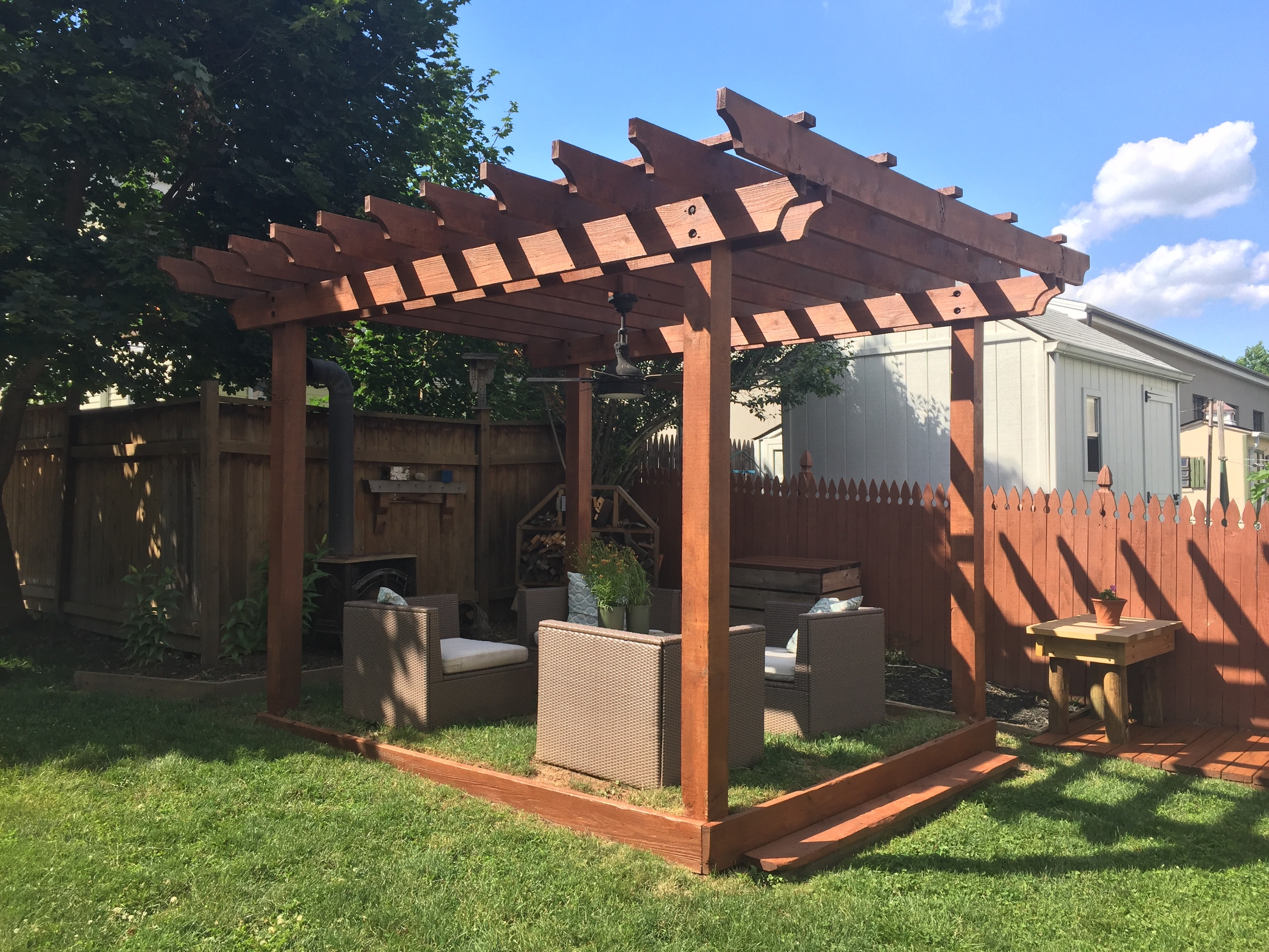 Man V Pergola How To Clean Stain And Seal A Wood Pergola