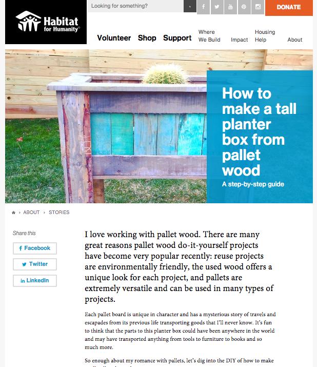 Habitat ReStore pallet planter box MyFixitUpLife