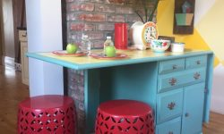 MyFixitUpLife Krylon paint desk Habitat ReStore makeover yellow