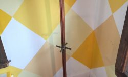copper pipe coat rack