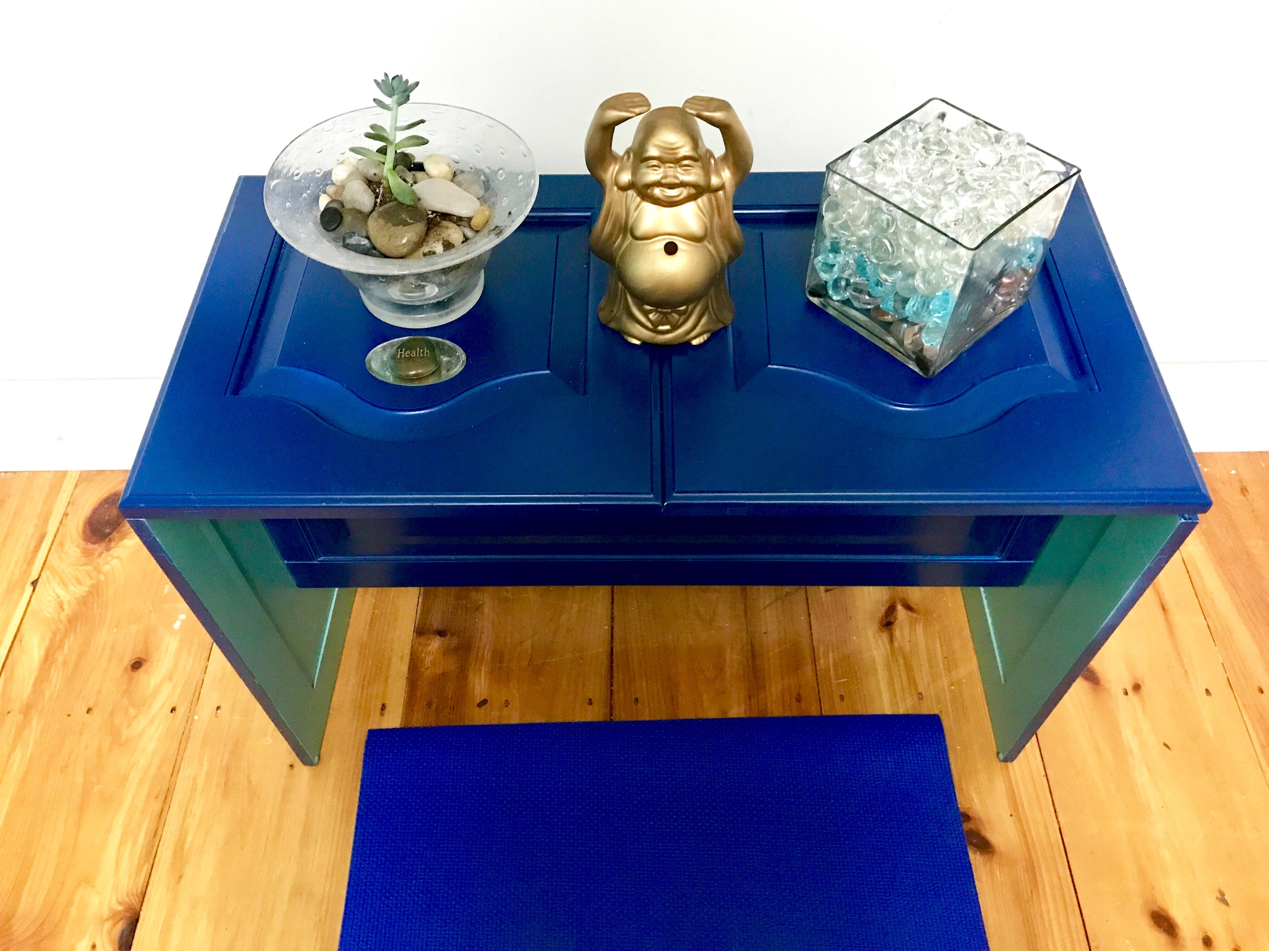 11b Krylon MyFixitUpLife Meditation Space bench decorated