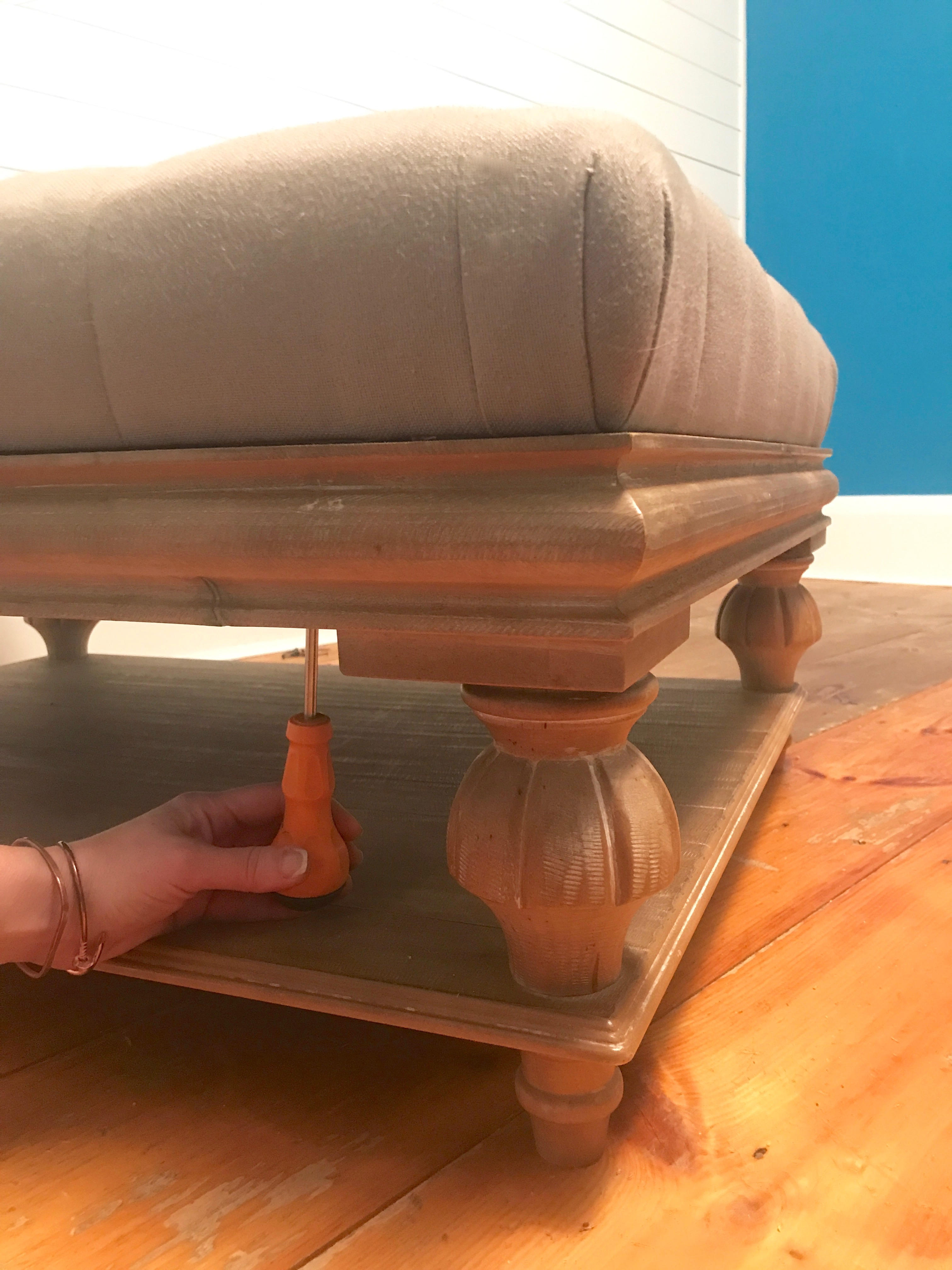 2 myfixituplife theresa ottoman remove the top from base screwdriver