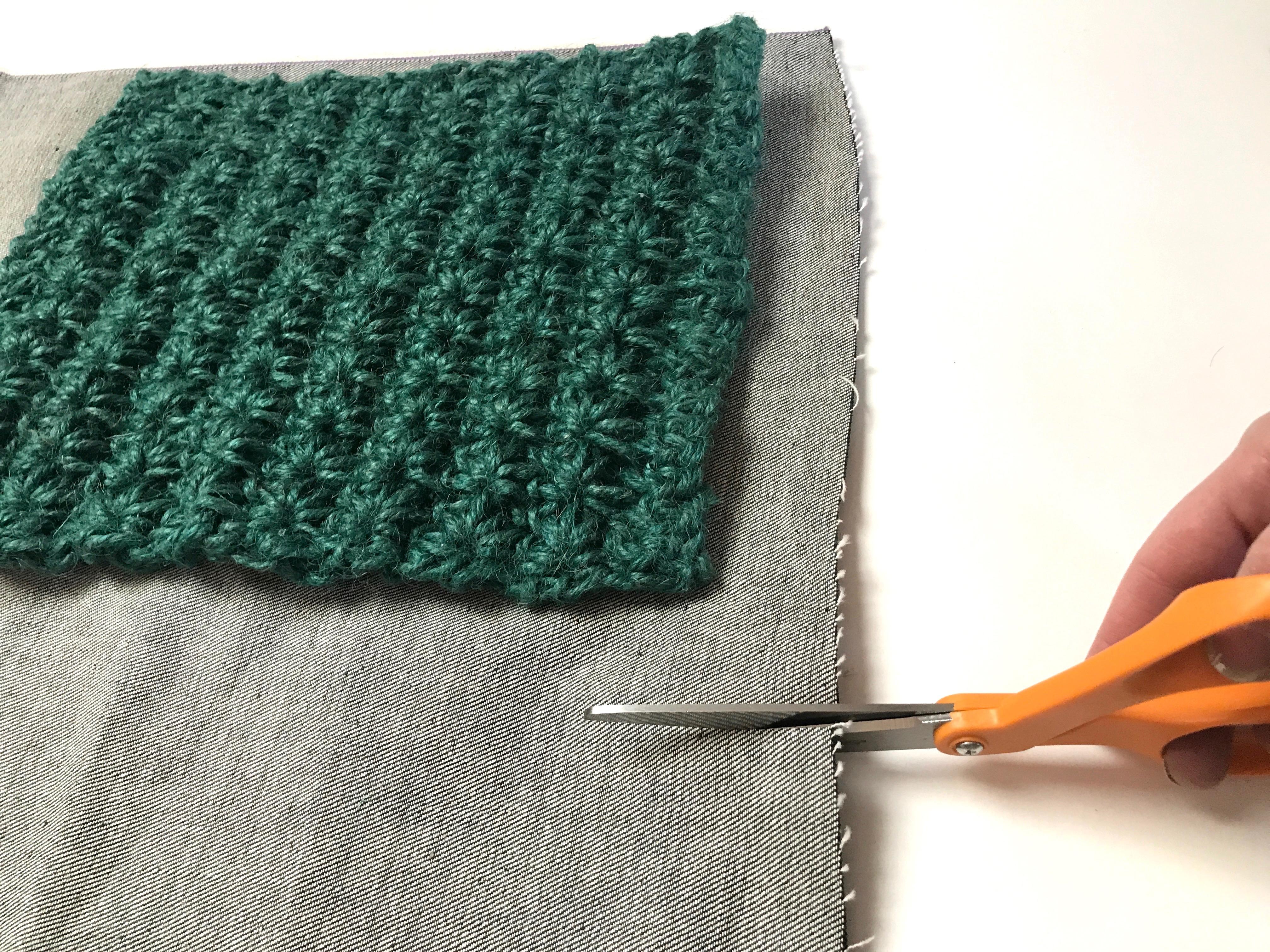 3 Twine handbag crochet Cutting denim lining fiskars myfixituplife