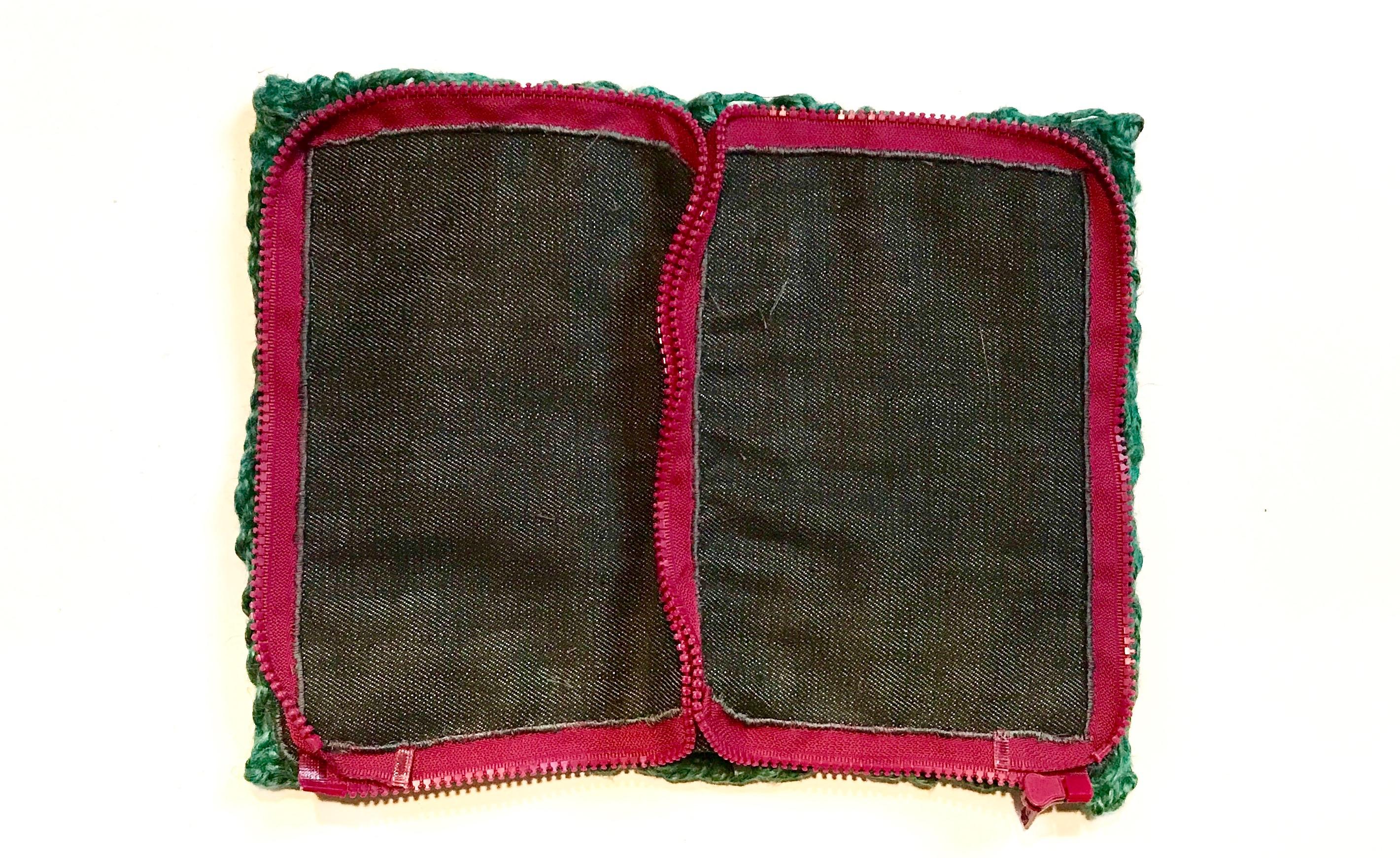 5 Twine handbag crochet denim lining fiskars and zipper sewn inside view myfixituplife